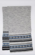 Load image into Gallery viewer, Nordic scarf - Grey, black and blue