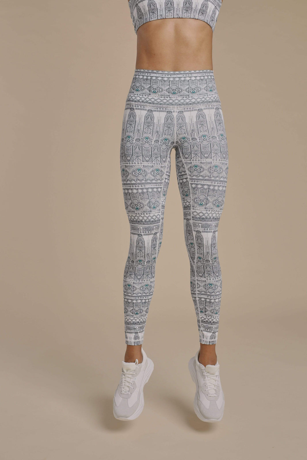 Evil Eye Leggings in White