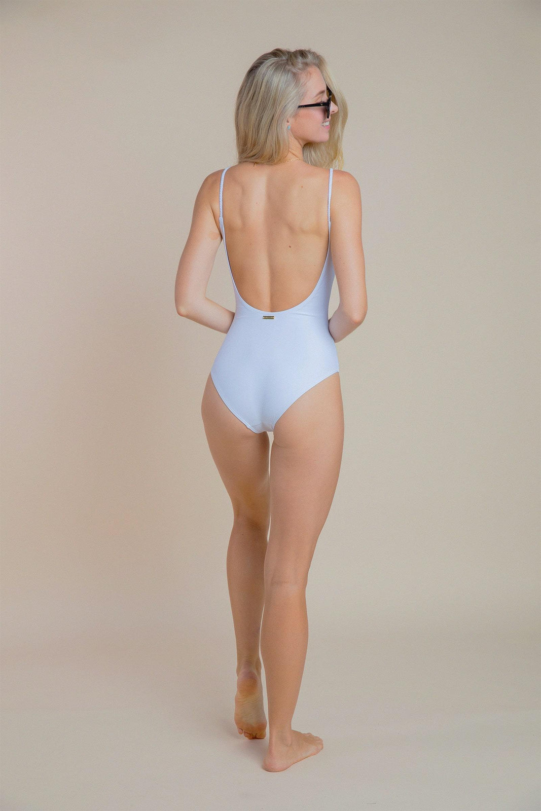 Malibu Braided Strap One Piece in White