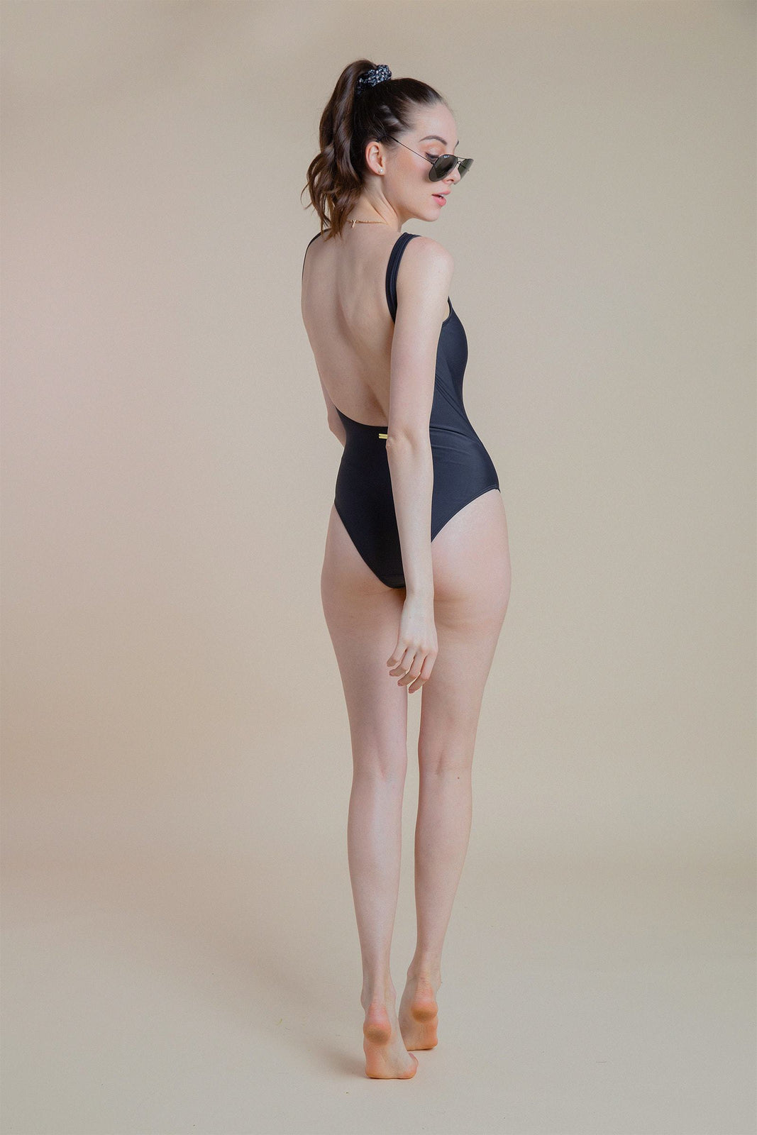 Venice Low Back One Piece in Black