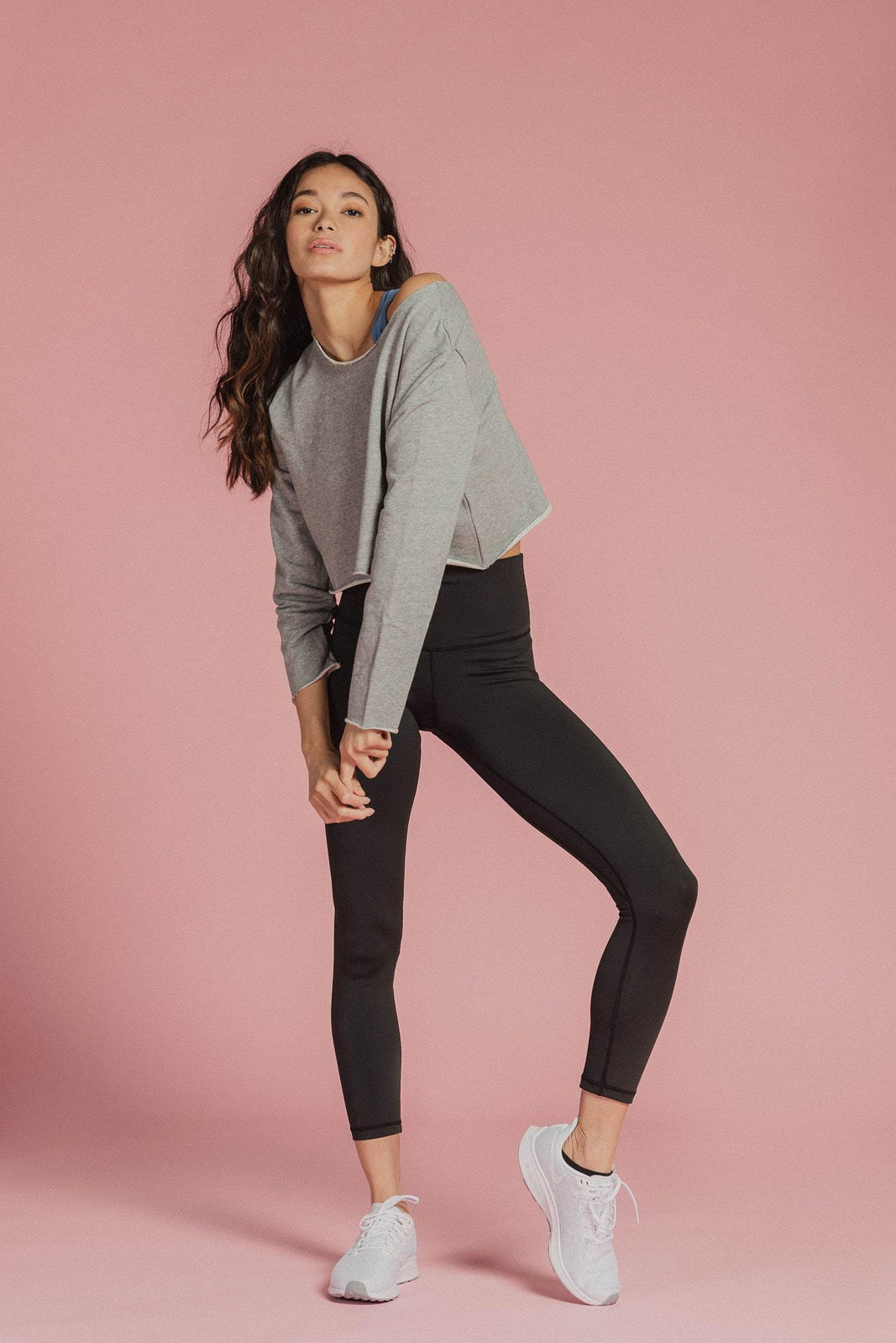 Crop Sweatshirt in Grey