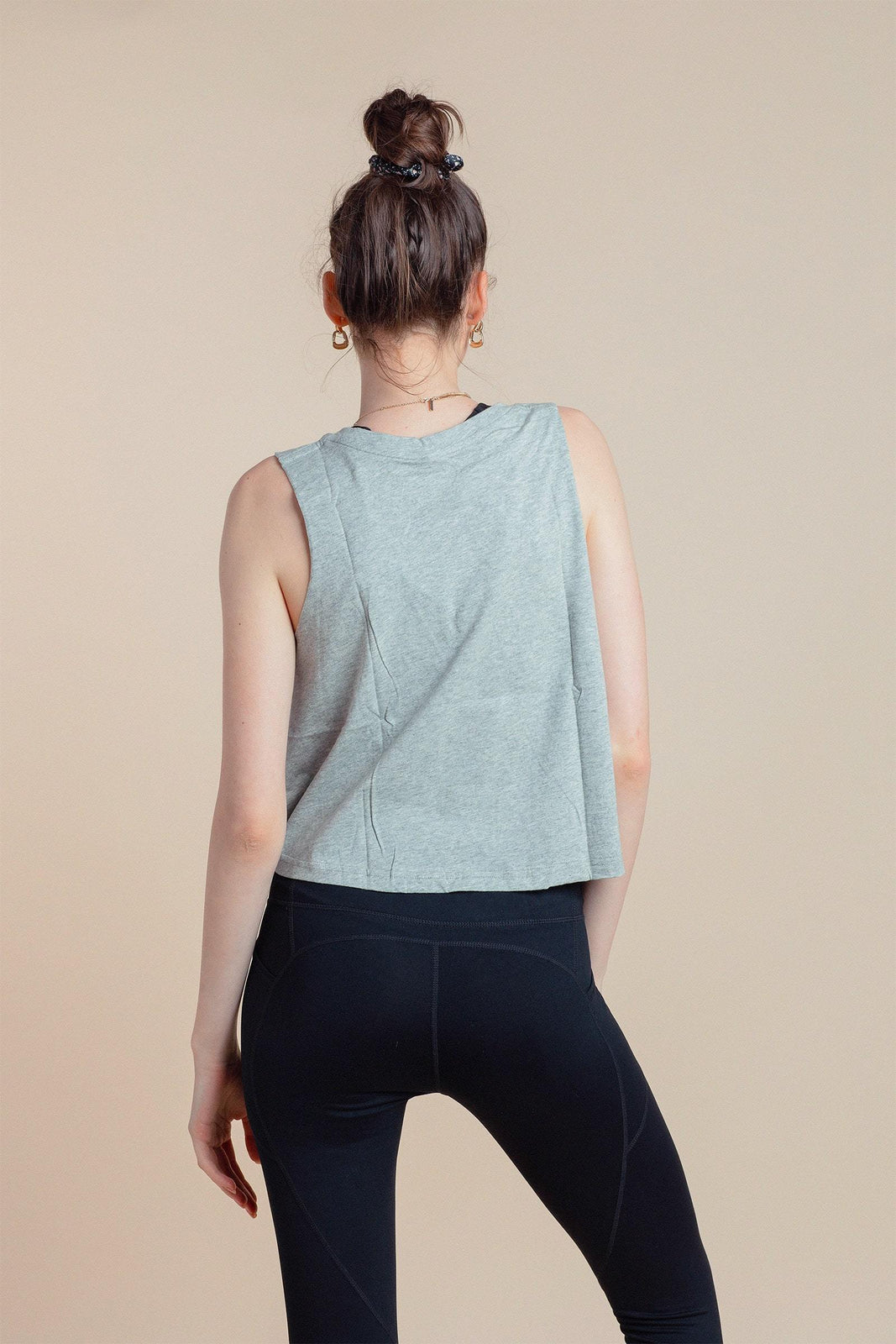 Essential Crop in Heather Grey