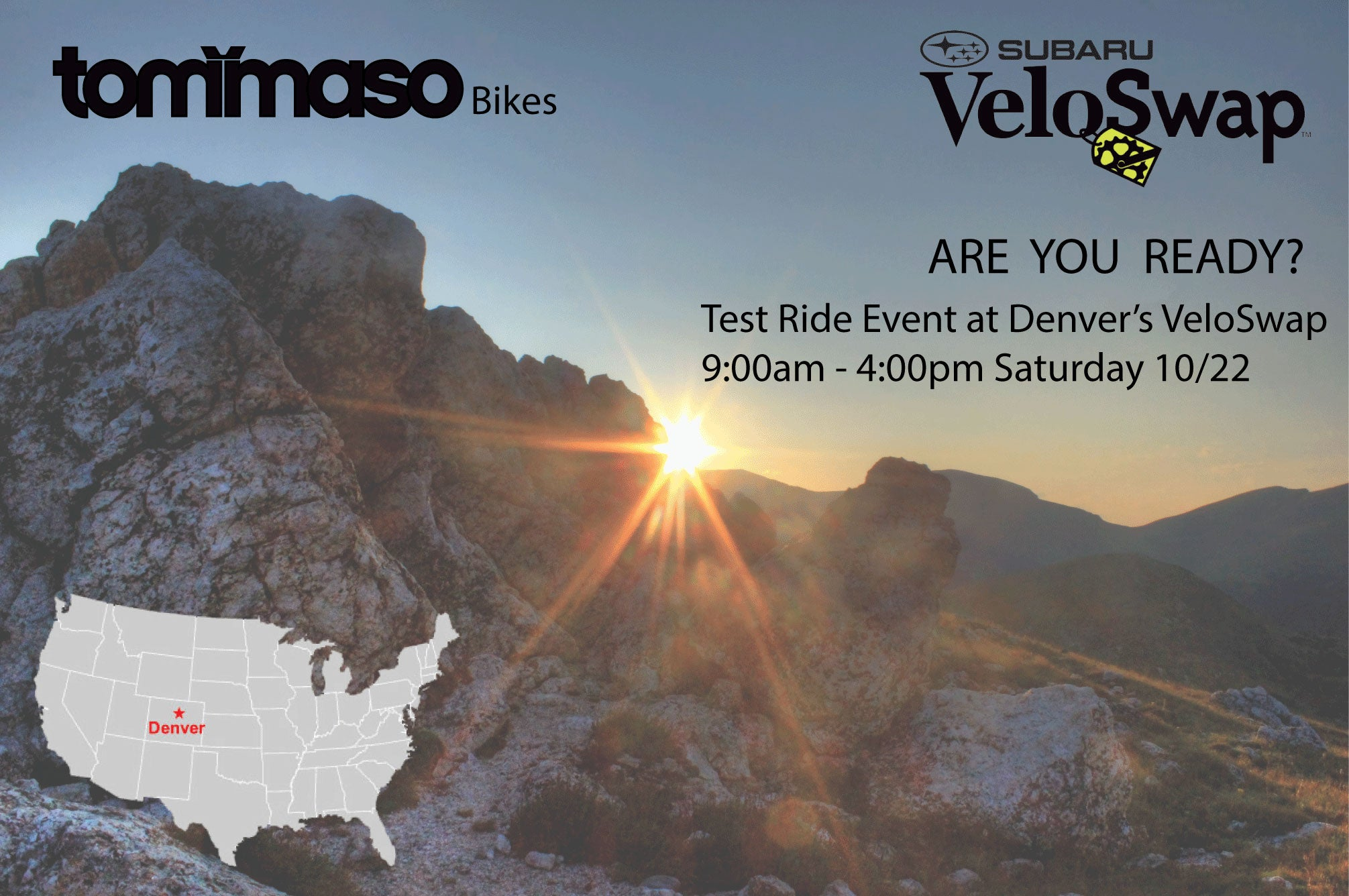 Tommaso Test Ride Event at Veloswap Denver, CO