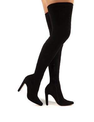 Pernille Over the Knee Boots in Black