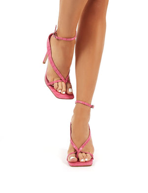 Emilia Pink Strappy Stiletto High Heels