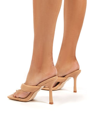 Blondie Nude Toe Thong Heel Sandals