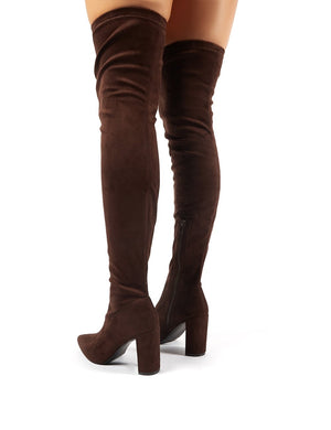 Scorch Chocolate Faux Suede Over the