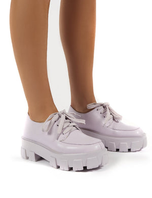 Candid Lilac Chunky Sole Lace Up Creeper