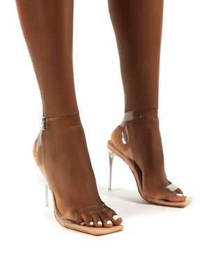Fetch Beige Patent Stiletto Heels