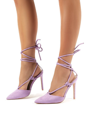 Bardot Wide Fit Lilac Suede High Heels