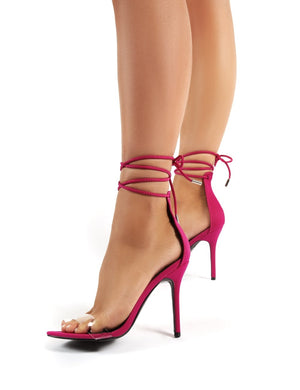 Jorja Fuschia Lace Up Stiletto Heels