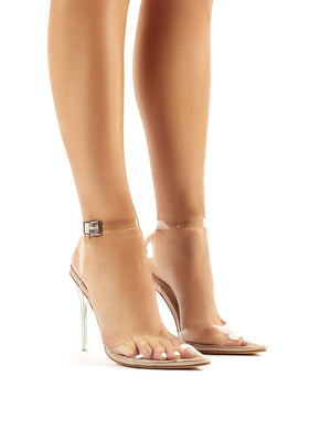 Wavey Clear Perspex Pointed Toe Stiletto Heels