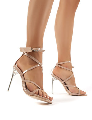 Kisses Nude Patent Perspex Stiletto High Heels
