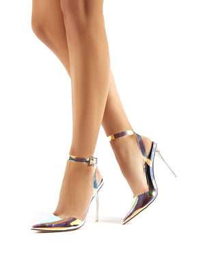Wavey Iridescent Pointed Toe Stiletto Heels