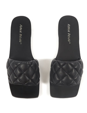 Cloud Black Slider Sandal
