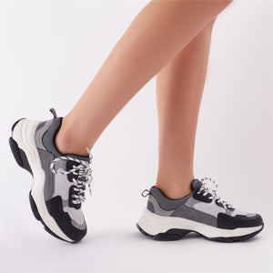 Amfo Chunky Trainers in Black & White