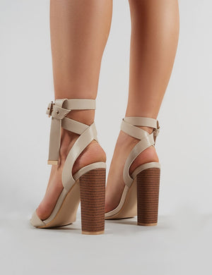 Brea Block Heels In Nude