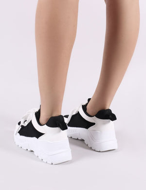 Bills Chunky Trainers in Black and