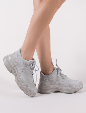 Blend Chunky Trainer in Grey | Public