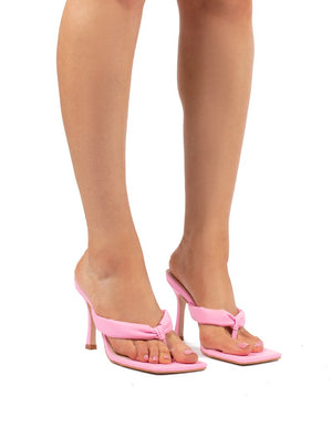 Blondie Pink Toe Thong Heel Sandals