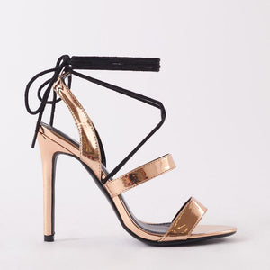Milford Rose Gold Lace Up Heel