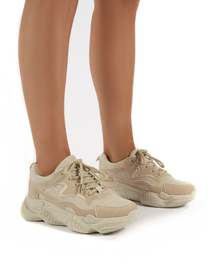 Sprint Sand Chunky Sole Trainers
