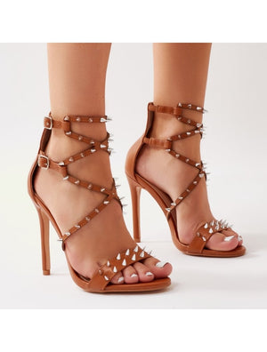 Amore Spiky Heels in Tan