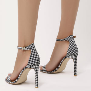 Avril Barely There Heels in Gingham