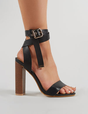 Brea Block Heels in Black