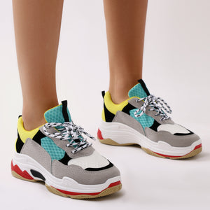 Revival Chunky Trainers in Green