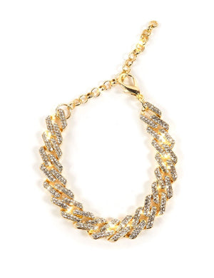 Gold Diamante Chain Anklet