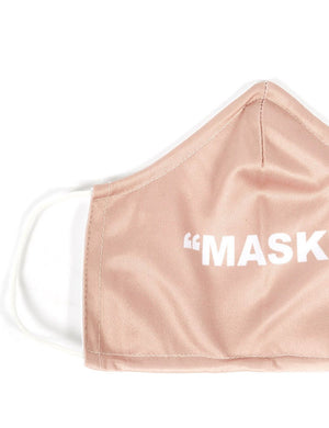 Nude Slogan Fashion Face Mask