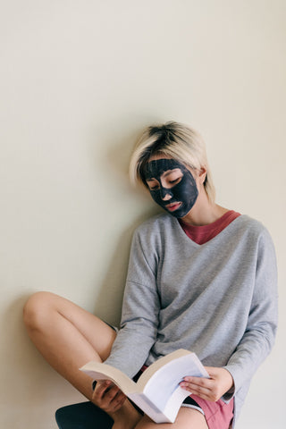 Woman with Facemask. Dot and Key Skin Care