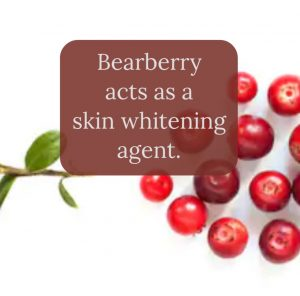 Lighten Dark underarms with bearberry