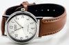 Casio MTP-1095E-7B Men's Classic Silver Analogue Brown Leather Band Watch