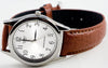 Casio MTP-1093E-7B Men's Classic Silver Analogue Brown Leather Band Watch