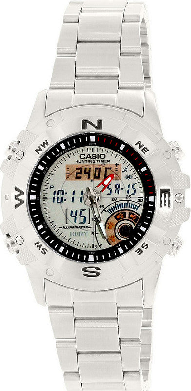 Casio AMW-704D-7AV Hunting Timer Steel Thermometer Watch