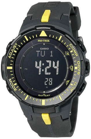 Casio PRG-300-1A9 PROTREK Triple Sensor VERSION 3 Watch Black Yellow Men's