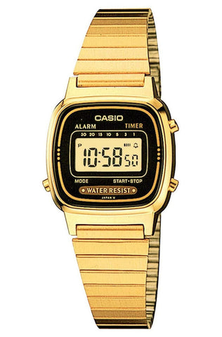 Casio LA-670WGA-1 Ladies Gold Stainless Steel Digital Classic Vintage Casual Watch
