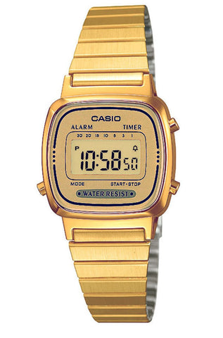 Casio LA-670WGA-9 Ladies Gold Stainless Steel Digital Classic Vintage Casual Watch