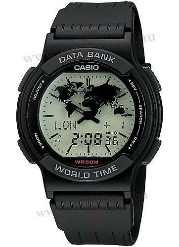 Casio ABX-22LUY-1 Mens Vintage TWINCEPT Analog Digital Databank World Time Watch
