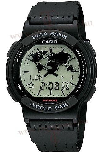 Casio ABX-53U-1E Mens Vintage TWINCEPT Analog Digital Databank World Time Watch
