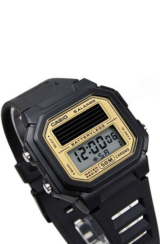 Casio AL-190W-9A Mens BATTERYLESS Black Solar Classic Sports Watch 5 ALARMS