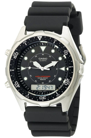 Casio AMW-320R-1EV 100M DIVER Sports Watch Chronograph Black Dial Alarm
