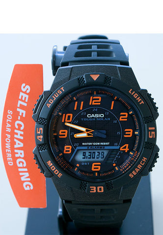 Casio AQ-S800W-1B2 SOLAR POWER World Time 5 Alarms 100m Analogue Digital Watch