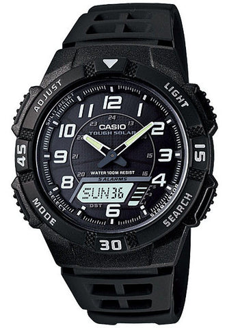 Casio AQ-S800W-1BV SOLAR POWER World Time 5 Alarms 100m Analogue Digital Watch