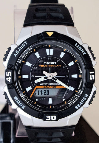 Casio AQ-S800W-1EV SOLAR POWER World Time 5 Alarms 100m Analogue Digital Watch
