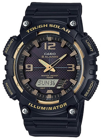Casio AQ-S810W-1A3 SOLAR POWER World Time 5 Alarms 100m Watch