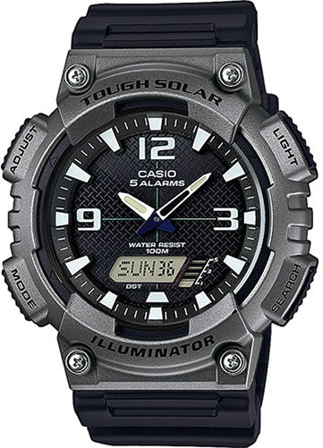Casio AQ-S810W-1A4 SOLAR POWER World Time 5 Alarms 100m Watch