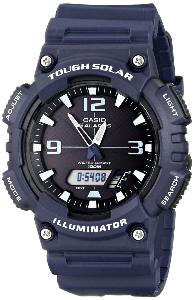 Casio AQ-S810W-2A2 SOLAR POWER World Time 5 Alarms 100m Watch